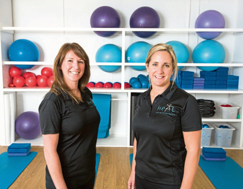 Pic Alan Richardson Dundee, Pix-AR.co.uk Skill Development Scotland Lynne Falconer and Sally Kiddie of Heal Physiotherapy in Dundee.
