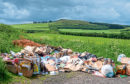 Fly-tipping on farmland poses a danger of livestock being poisoned by lead products.