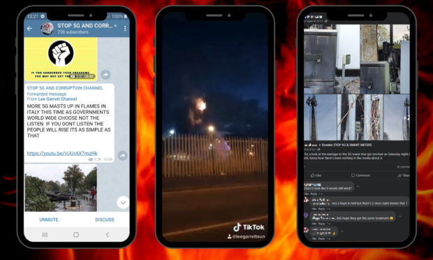 INVESTIGATION: A burning phone mast in Dundee and the 5G conspiracy theory groups on Facebook