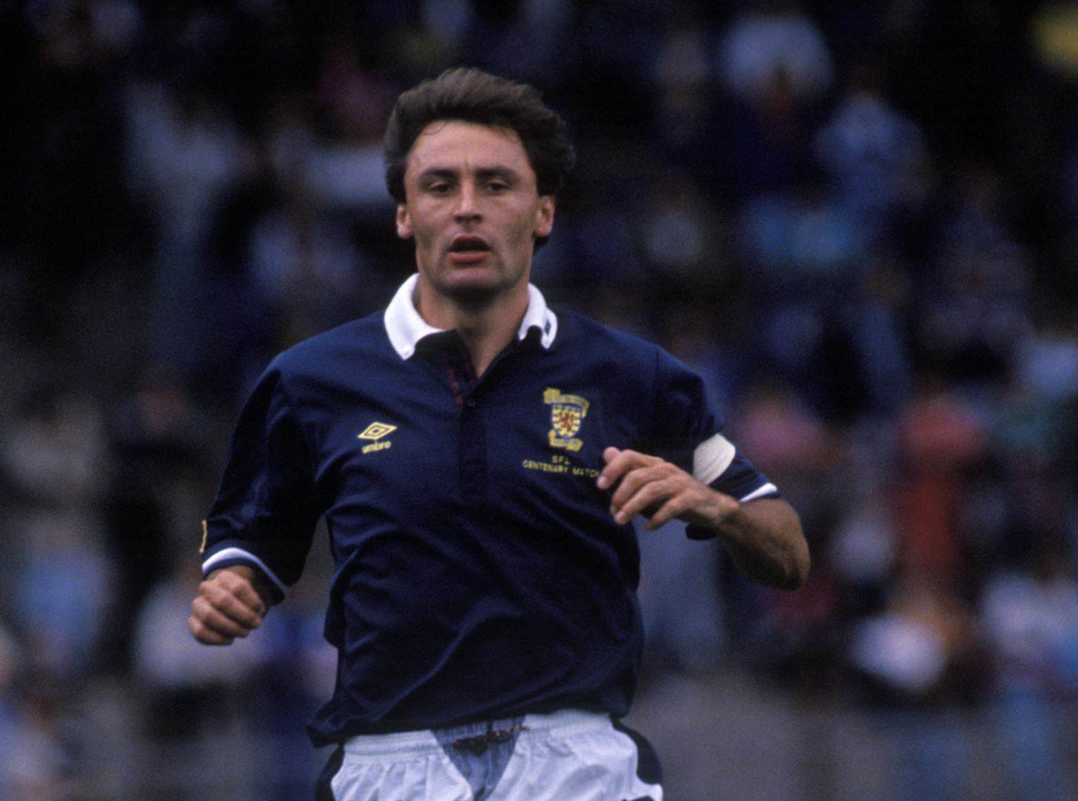 Maurice Malpas in action for Scotland.