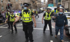Police respond to a major incident on West George Street, Glasgow.