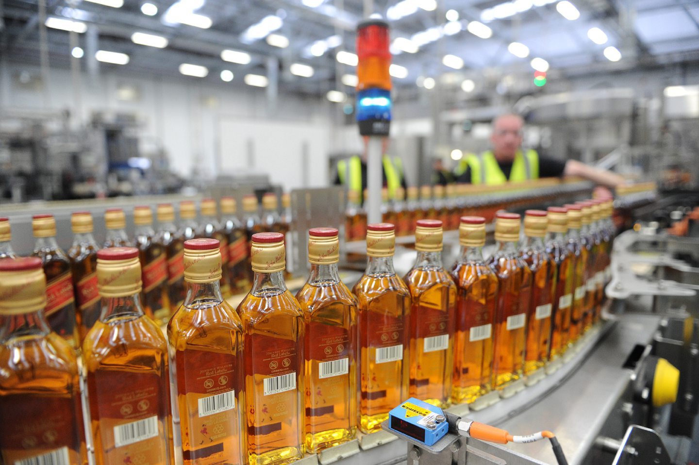 The Diageo Leven bottling facility.