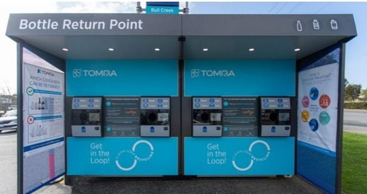 A reverse vending machine, similar to the ones proposed for nine Aldi stores across the region.