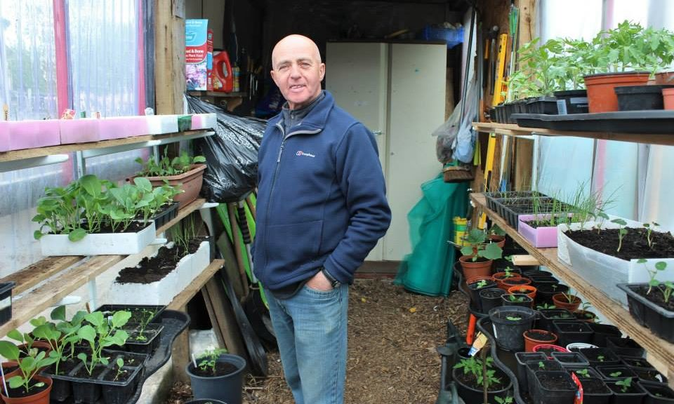 Bill McGregor's allotment has proved a haven during lockdown.