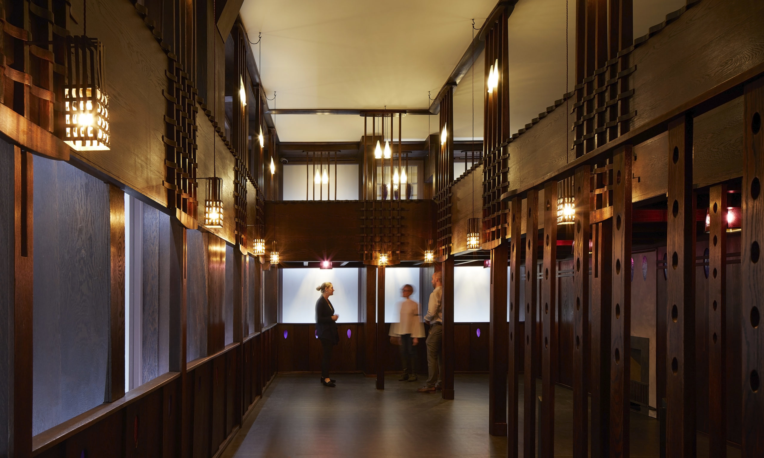The stunning restored Oak Room within V&A Dundee's Scottish Design Galleries.