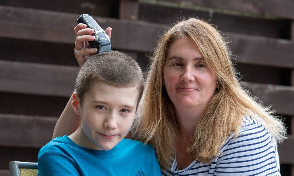 Sam, supported by mum Pamela, will be raising money for Macmillan.
