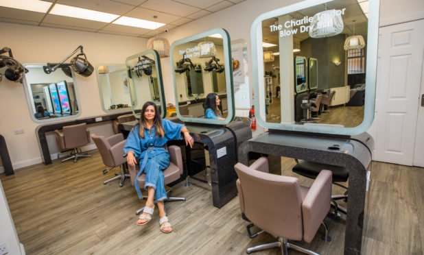 Charlie Taylor at her salon in Dundee.
