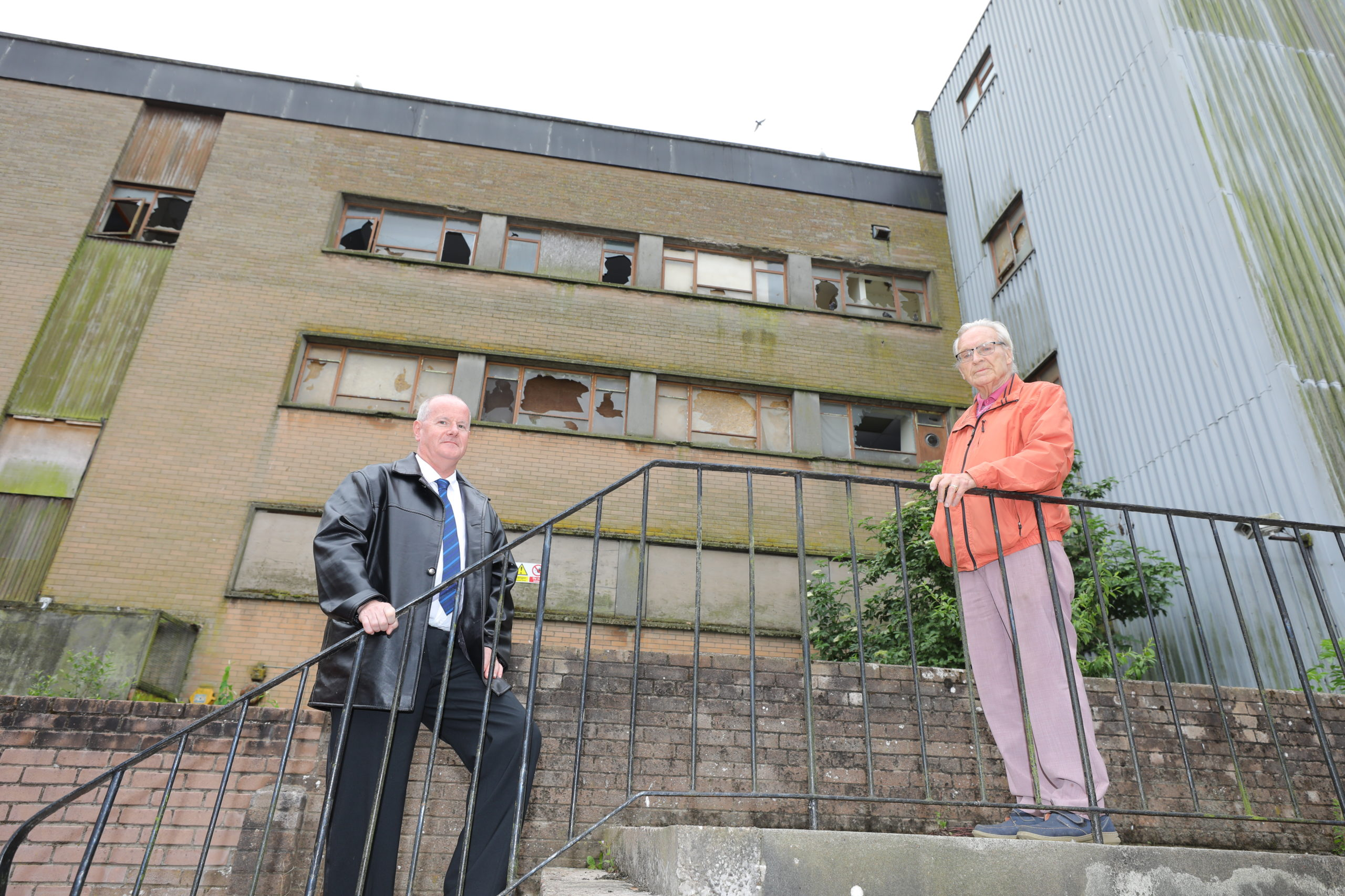 John Goodman and Ron Page have welcomed the announcement of work at the dilapidated building