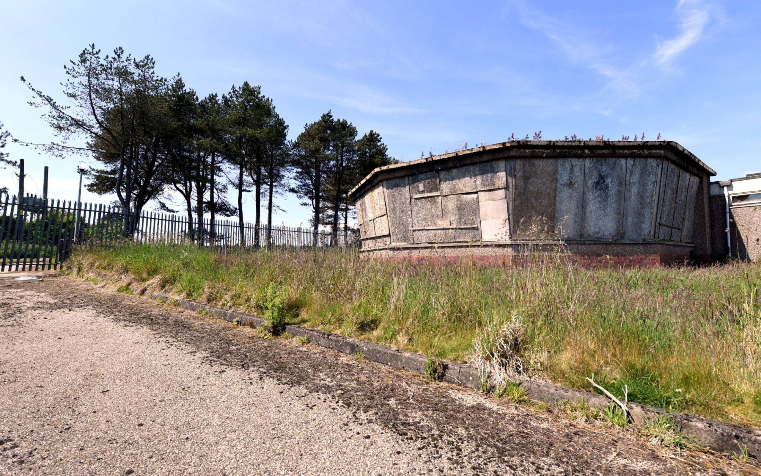 The disused Stonehaven Radio Station.