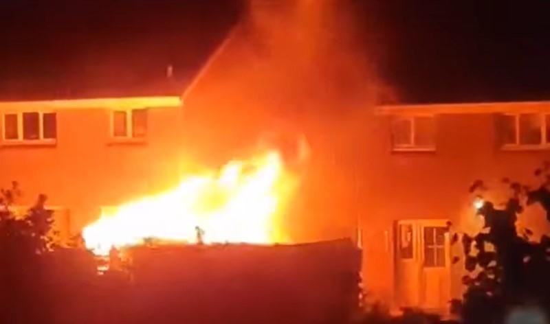 Fire at Dunniker Estate, Kirkcaldy.