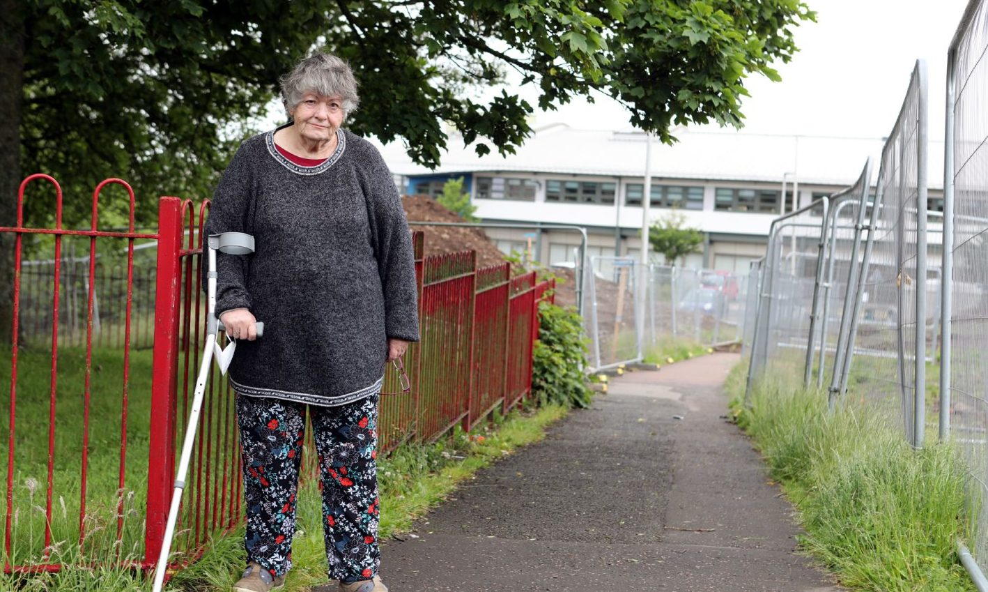 Patsy Pepper is one of the residents concerned about the future of the footpath.