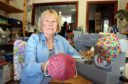 Linda Robertson has been making fashionable face coverings in her home workshop in Letham.