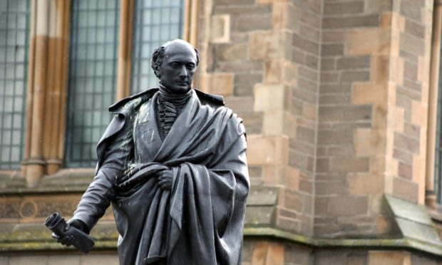 The statue of George Kinloch in Albert Square.