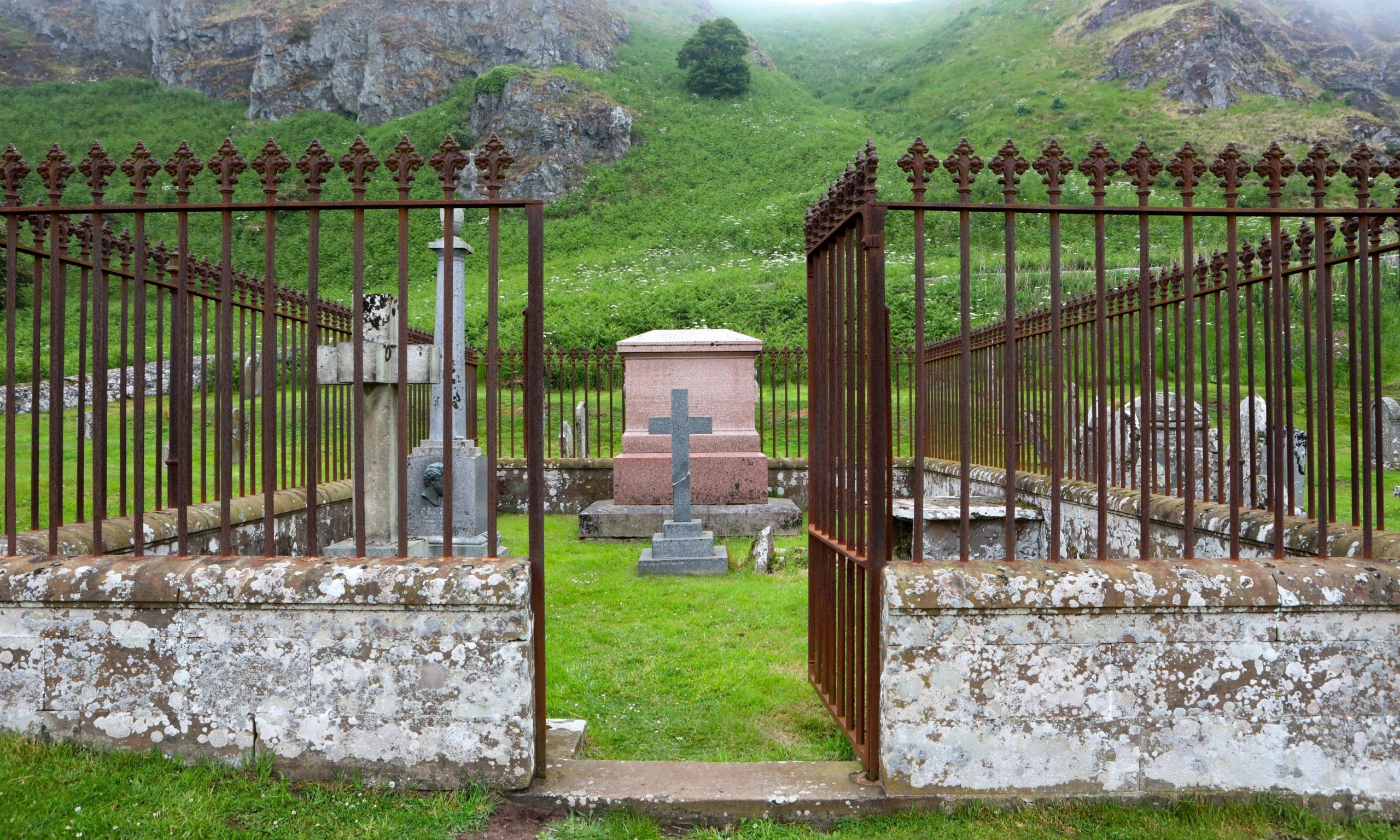 The family plot at Kirkside Cemetery St Cyrus of Sir Joseph Straton