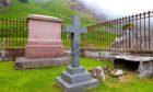 The imposing gravestone  of Sir Joseph.