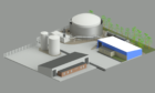The proposed bioenergy plant at Graham's Cowdenbeath dairy.