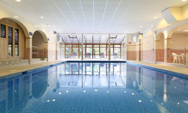 The pool at Macdonald Loch Rannoch Hotel.