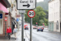 Newly installed 20mph limits in Perth. Picture: Kim Cessford.