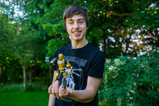 Dundee High School pupil Andrew Loveday created the end-of-year film with a Lego hero character.