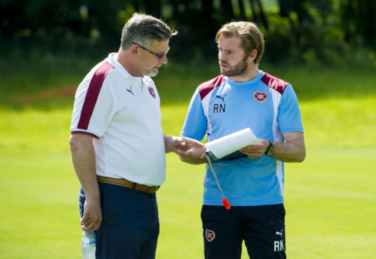 Levein and Neilson during their Hearts days