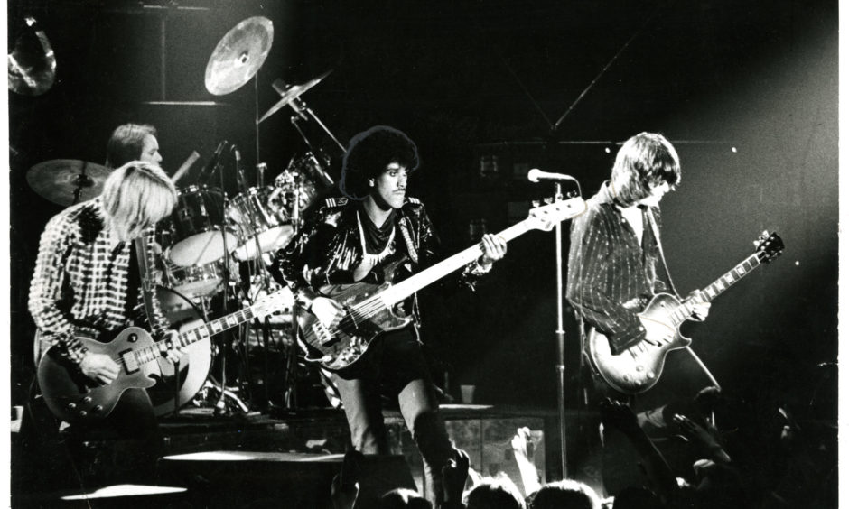 Thin Lizzy at Dundee's Caird Hall on May 3 1980.