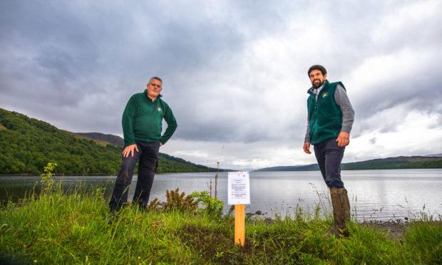 Andrew Duncan, chairman of Loch Rannoch Conservation Association, and Steve Roworth, Loch Rannoch Conservation Officer