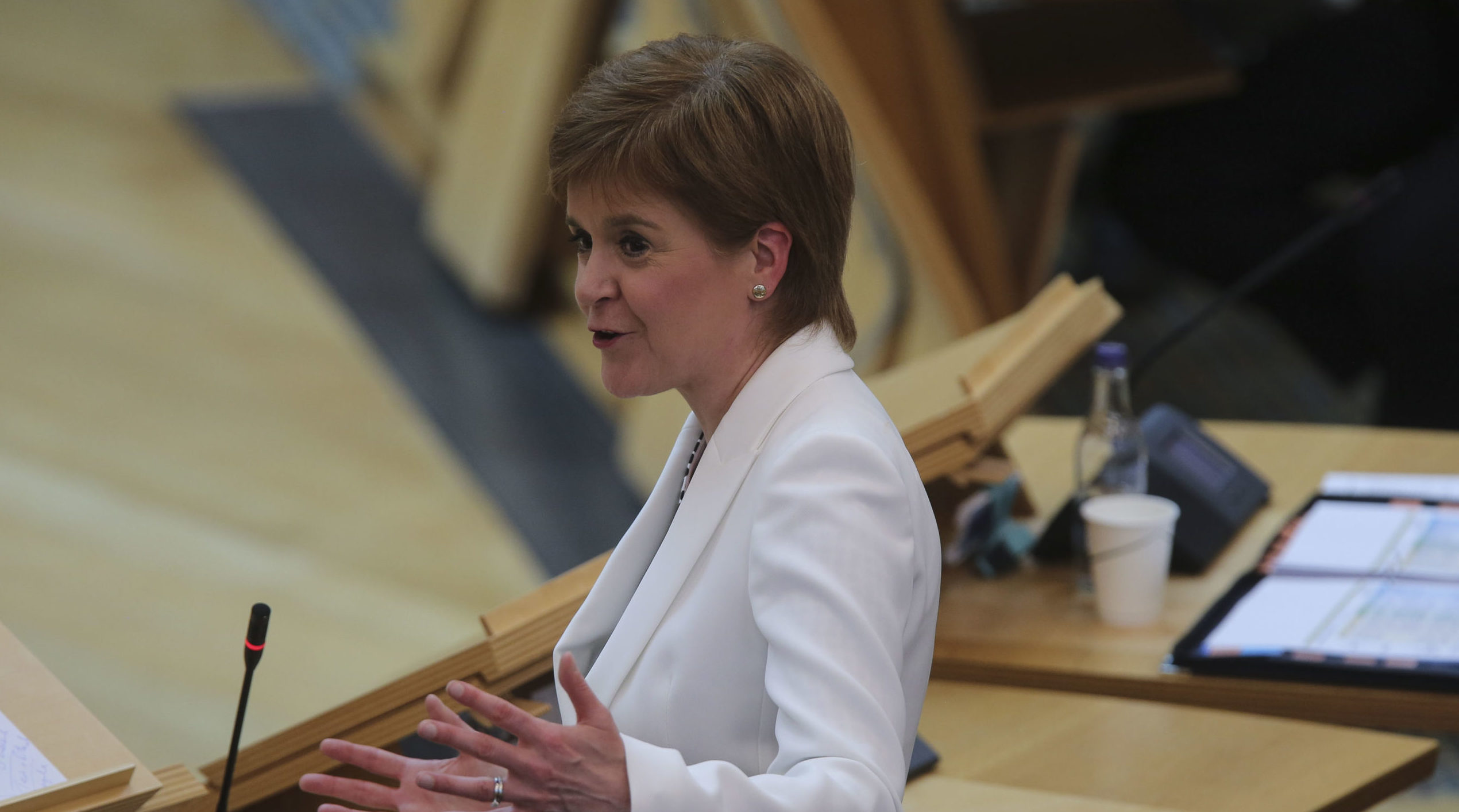 First Minister Nicola Sturgeon announces further changes to the Scottish Government Covid-19 lockdown at the Scottish Parliament.
