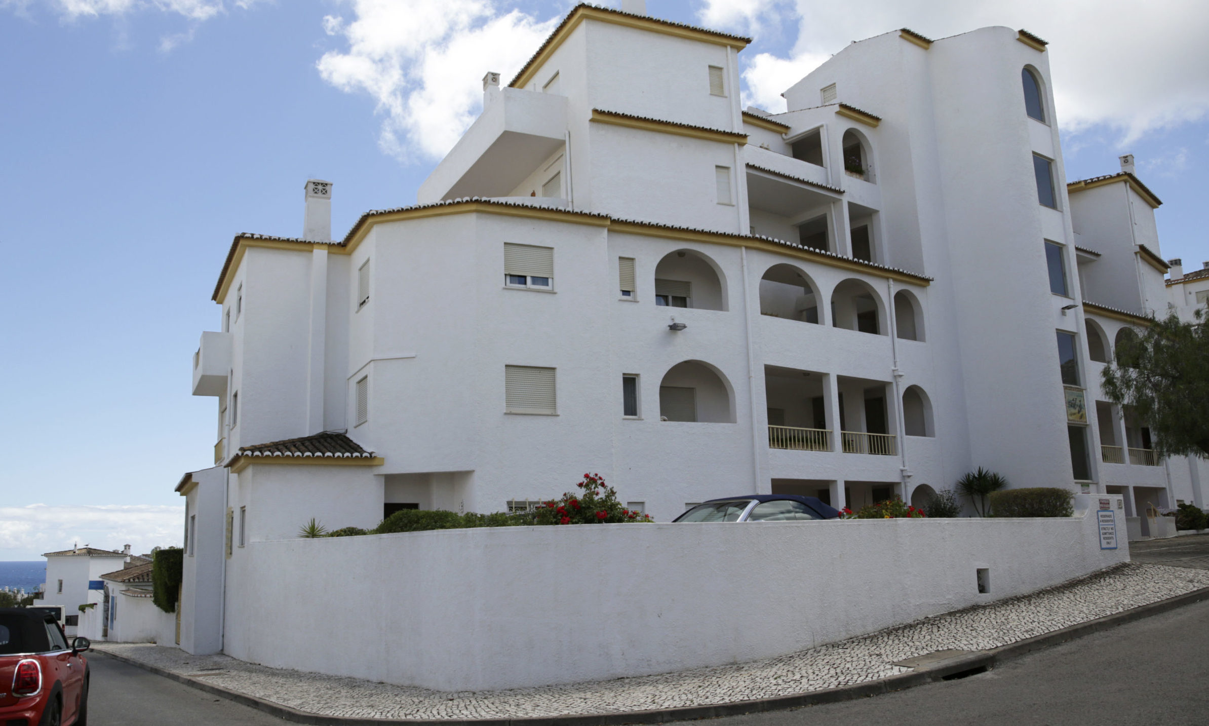 A view of the block of apartments from where British girl Madeleine McCann disappeared in 2007, in Praia da Luz, in Portugal's Algarve coast.