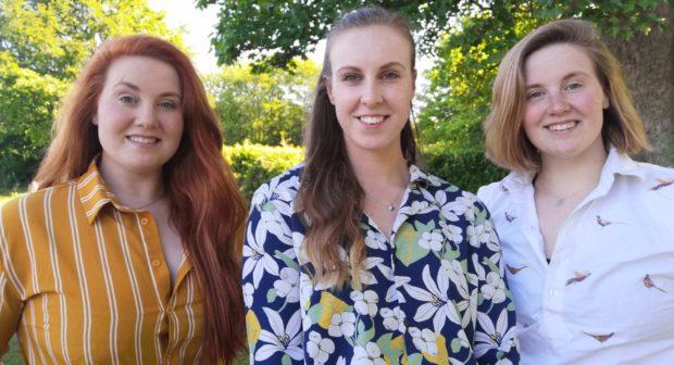 Victoria, Rohanne, and Harriet Compson-Bradford.
