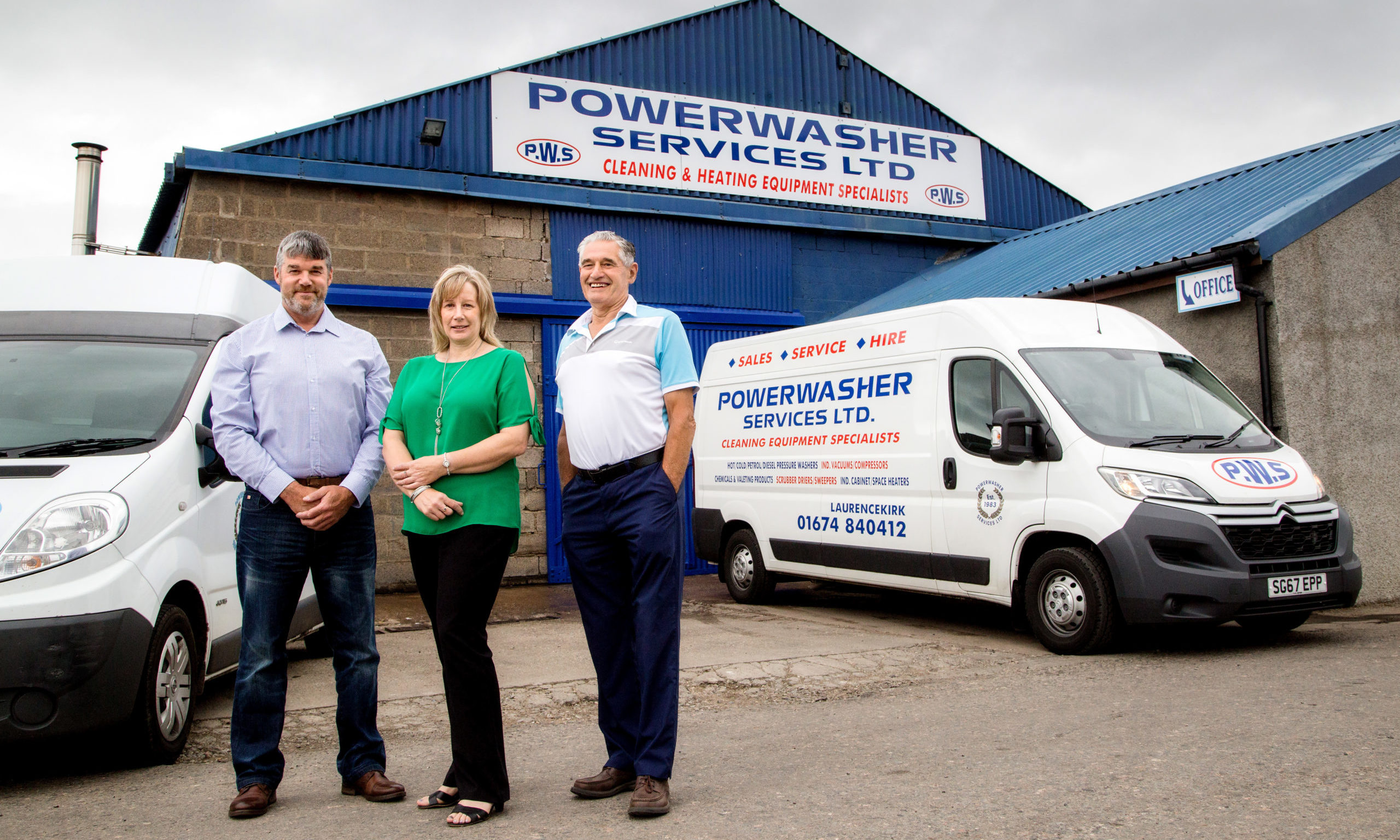 Powerwasher Services directors Jim Whitecross, Liz Carnie and Jack Whitecross