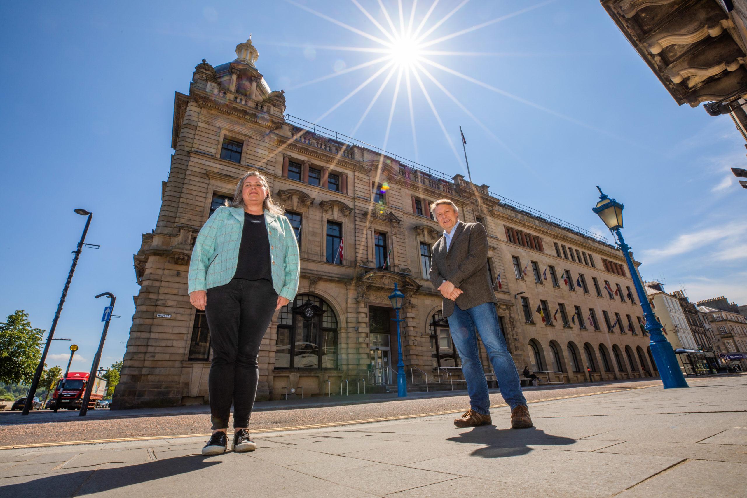 Councillors Roz McCall and Angus Forbes will host the meeting. Picture: Steve MacDougall.