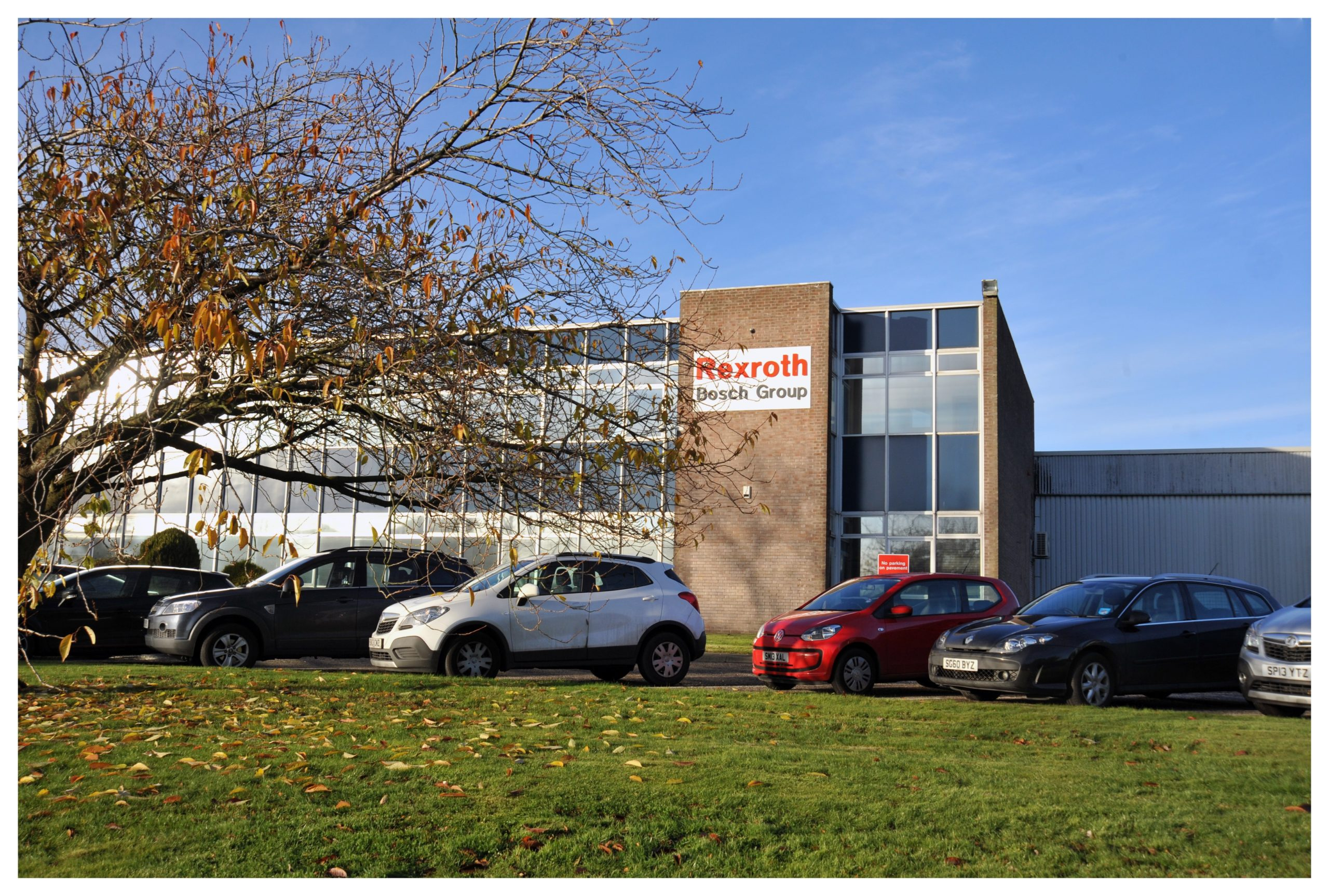 Rexroth Bosch's factory in Glenrothes was one of those firms visited by police during the lockdown.