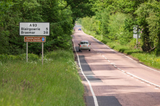 The A93 road which runs through Perthshire. Picture: Steve MacDougall.
