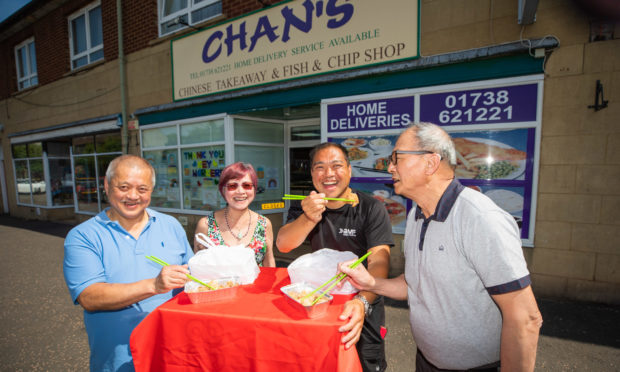 Ian Chan, Maria Chan, Andy Chan and Alexander Chan of Perth Chinese Association.