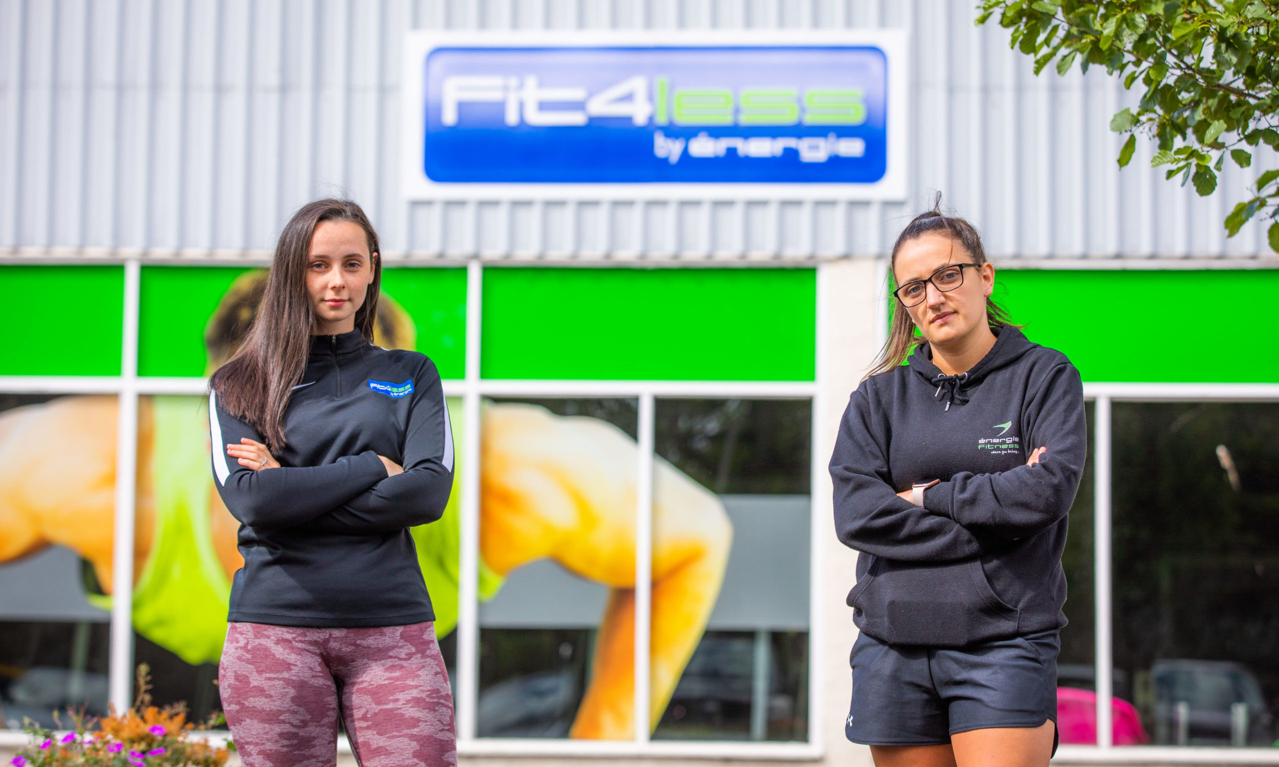 Fit4less staff members Megan Ely and Claire Crockart are worried about the gyms future.