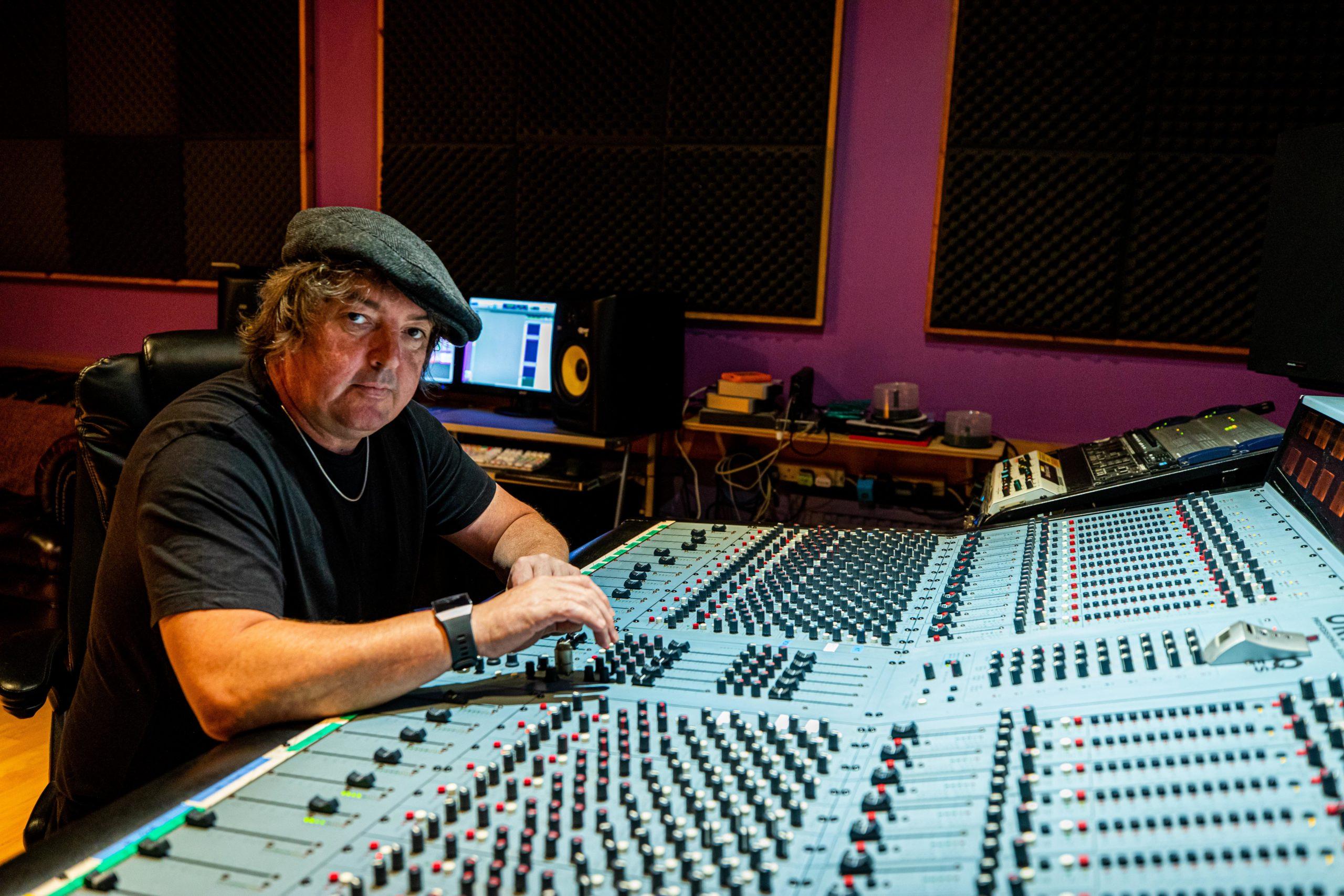 Michael Brennan in his Rosyth studio
