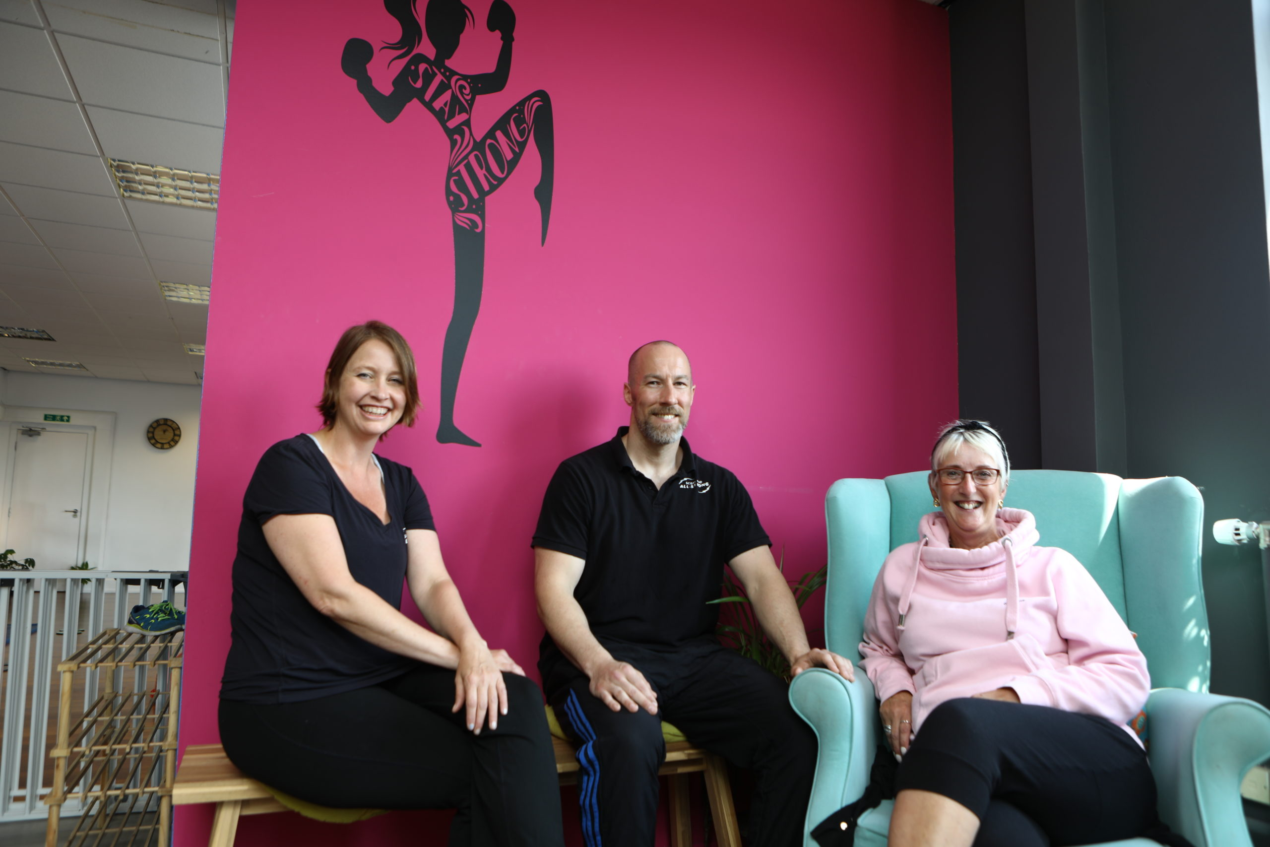 Jessica and Andy Douglas of Scotland All-Strong, and Linda Fisken. Picture: Dougie Nicolson.