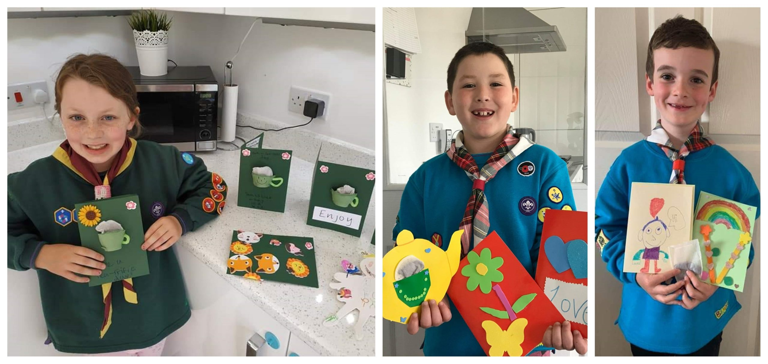 Some of the Rosyth Scouts with their creations.