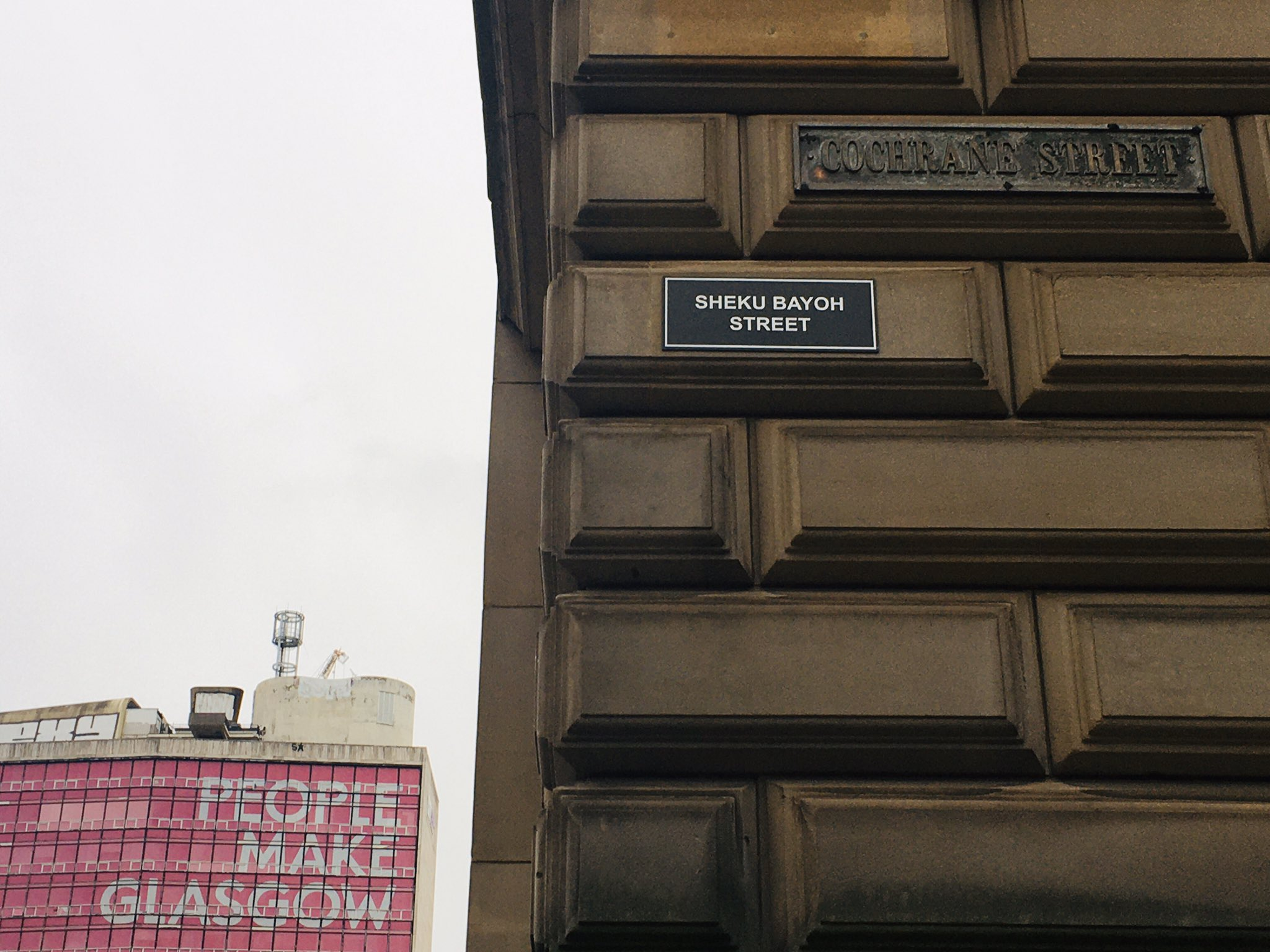 Mr Bayoh's name has been used on one of the plaques.
