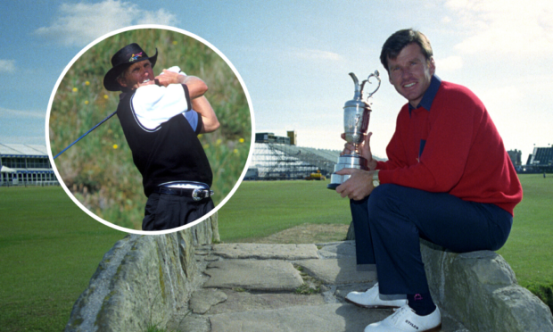 Faldo, with the Claret Jug in 1990, and Norman were the world's two best golfers that year