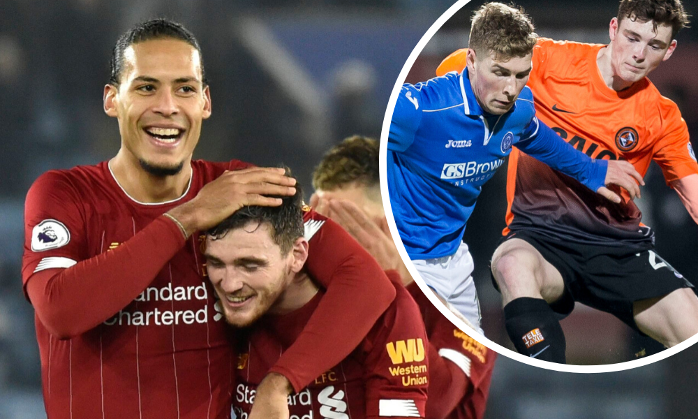 David Wotherspoon was on winning side against Virgil van Dijk and Andy Robertson