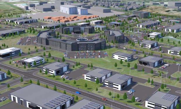A graphic impression of the proposed Zero Four site.