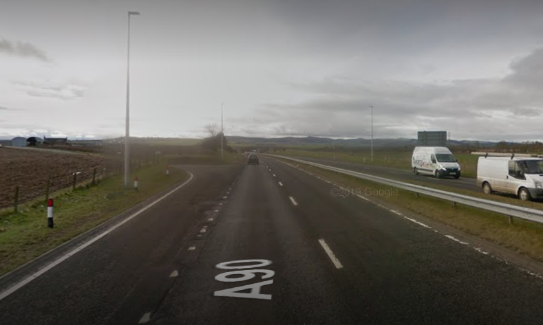 Resurfacing will take place southbound on the A90 near Forfar Loch.