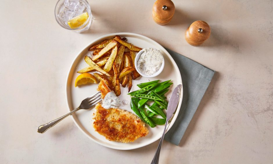 Tasty crispy fish and chips which are so easy to make.