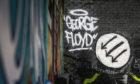 The George Floyd mural.