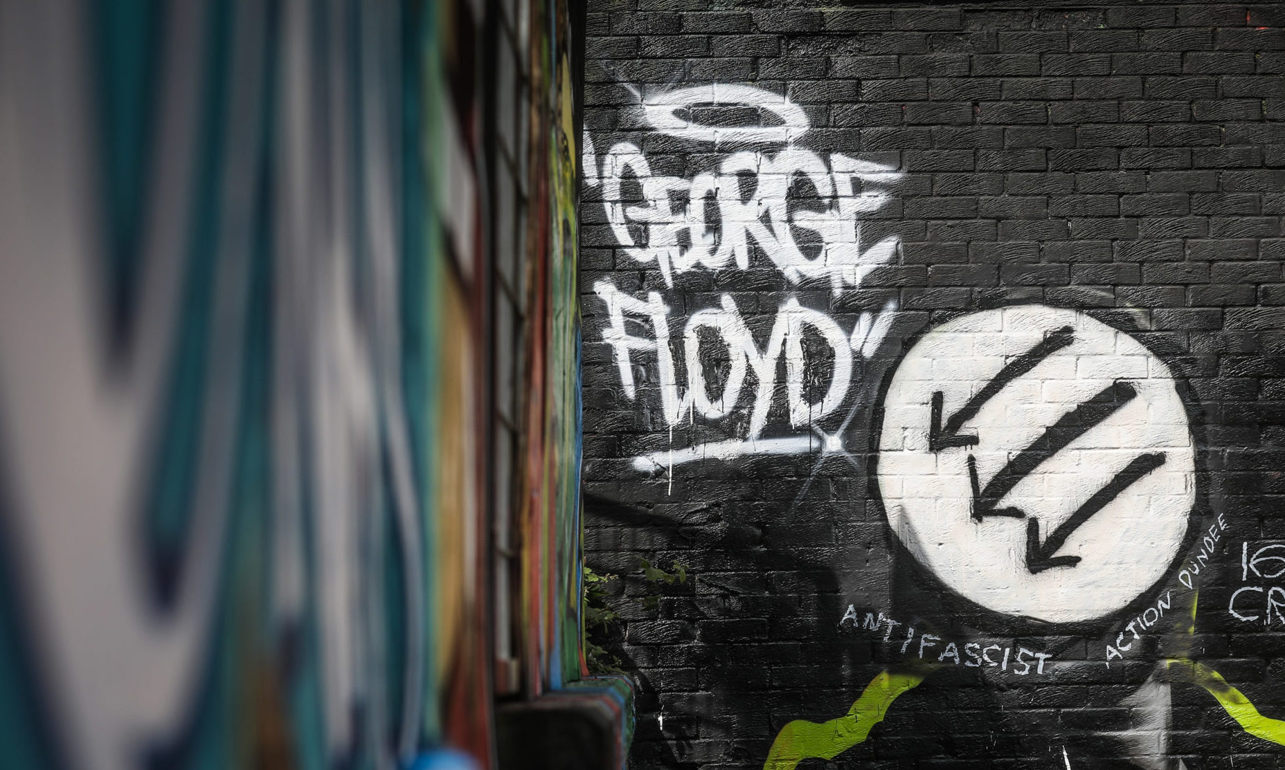 The George Floyd mural.