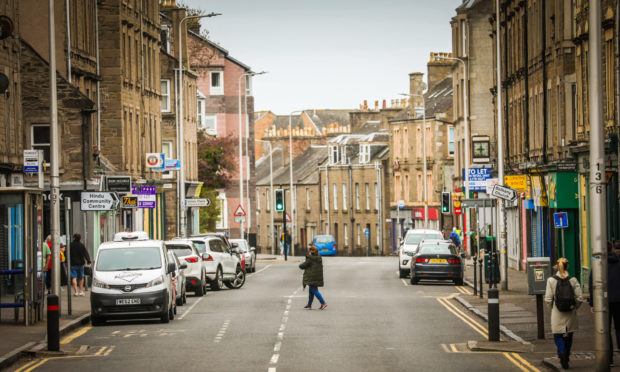 Perth Road in Dundee during the lockdown. The area has seen 14 Covid-19 deaths.