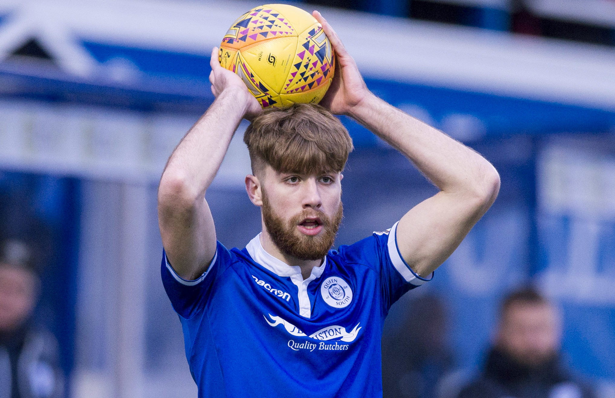 Shaun Rooney in action for Queen of the South.