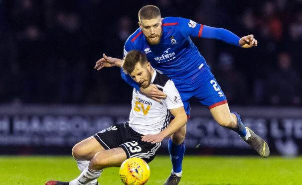 Shaun Rooney in action for Inverness Caley Thistle.
