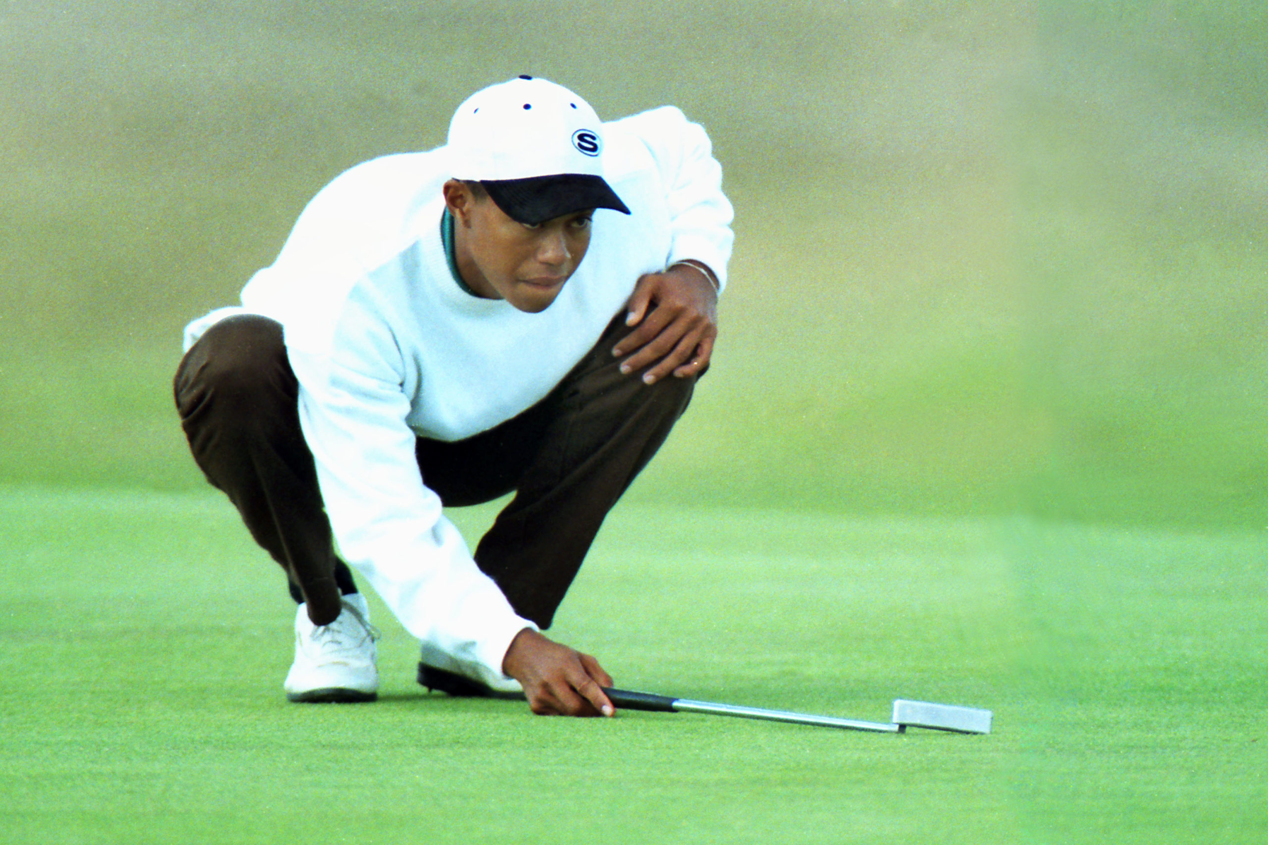 Tiger Woods at the 1995 Open Championship.